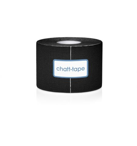 Chatt-Tape Bande de kinésiologie Noir par 12 rouleaux