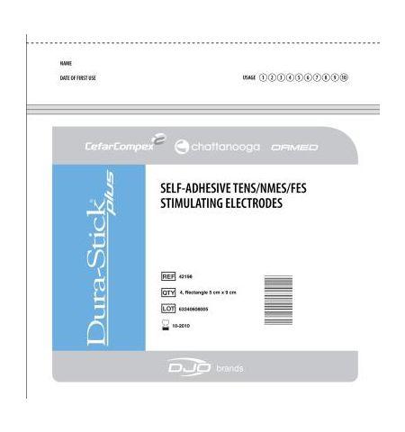 ELECTRODES DURA-STICK Plus SNAP (5 X 5) 10 sachets