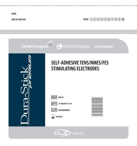ELECTRODES DURA-STICK PREMIUM 5 X 5 cm