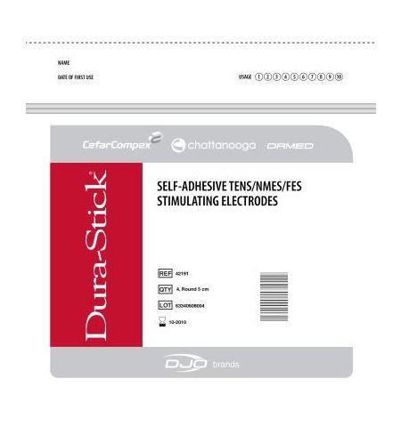 ELECTRODES DURA-STICK 5 X 5 cm 10 sachets